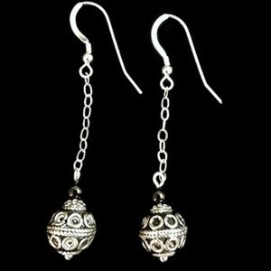 Ball and Chain  Dangle Earrings